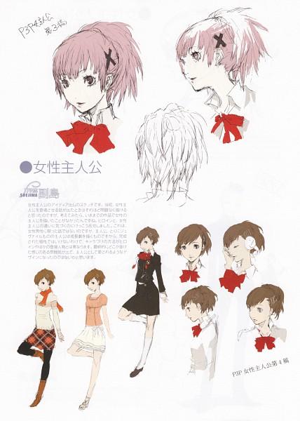 Tags: Anime, Soejima Shigenori, Persona 3 Portable, Shin Megami Tensei: PERSONA 3, Female Protagonist (PERSONA 3), Mobile Wallpaper, Sketch, Official Art, Character Sheet