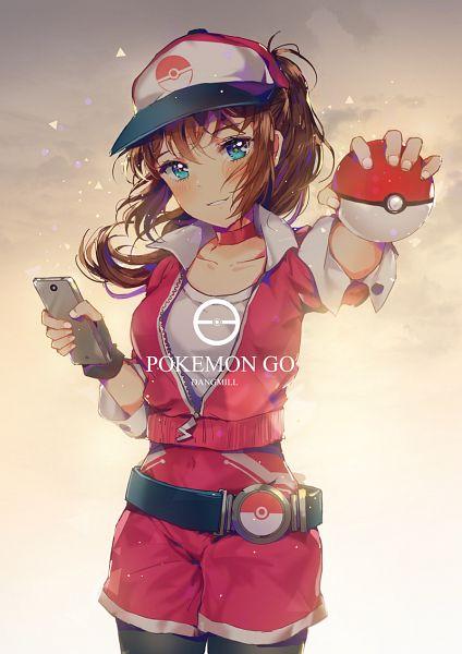 Tags: Anime, Dangmill, Pokémon GO, Pokémon, Female Protagonist (Pokémon GO), PNG Conversion, Mobile Wallpaper