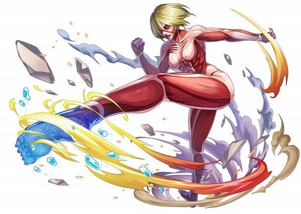 Tags: Anime, studioking, Attack on Titan, Boku & Dragons, Titan (Shingeki no Kyojin), Female Titan, Official Art