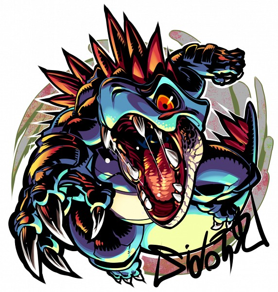 Tags: Anime, Sido (Slipknot), Pokémon, Feraligatr, Pixiv, Fanart From Pixiv, Fanart, PNG Conversion
