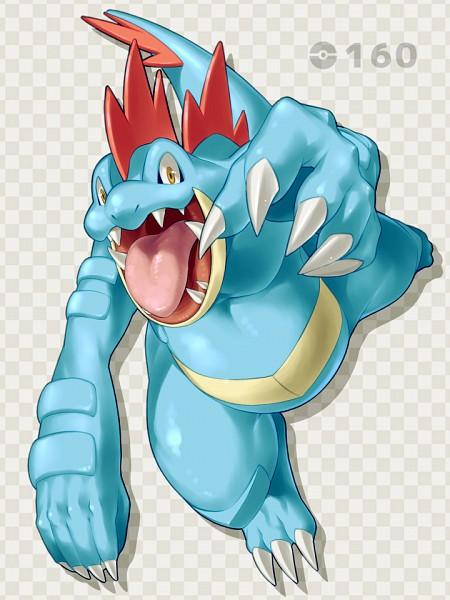 Tags: Anime, Pixiv Id 3364797, Pokémon, Feraligatr, PNG Conversion, Mobile Wallpaper, Pixiv, Fanart From Pixiv, Fanart