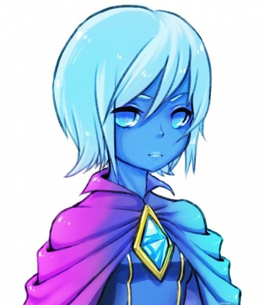 Tags: Anime, Onisuu, Zelda no Densetsu: Skyward Sword, Zelda no Densetsu, Fi, Blue Lips, Blue Gem, Fanart, PNG Conversion, Fanart From DeviantART, deviantART