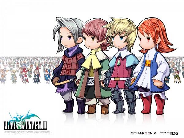 Tags: Anime, SQUARE ENIX, Final Fantasy III, Refia, Luneth, Onion Knight, Ingus, Arc (FF3), Freelancer