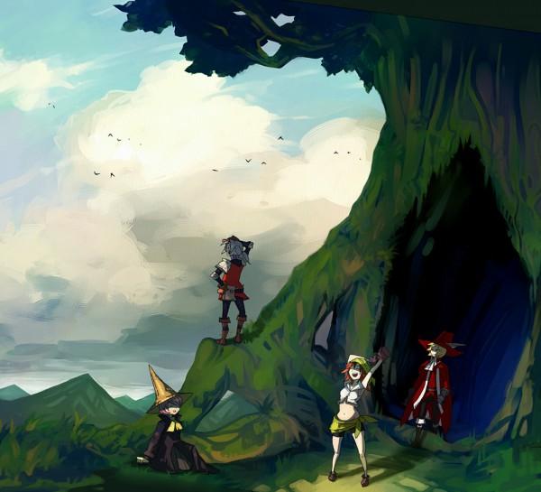 Tags: Anime, Final Fantasy III, Ingus, Onion Knight, Arc (FF3), Refia, Luneth, Black Mage, Thief, Red Mage