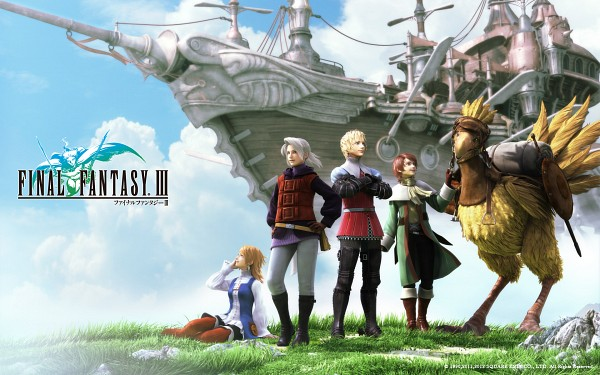 Tags: Anime, Final Fantasy III, Luneth, Onion Knight, Ingus, Arc (FF3), Refia, Chocobo, Wallpaper