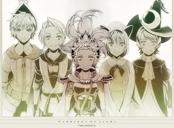 Tags: Anime, Amatari Sukuzakki, Final Fantasy III, Ingus, Arc (FF3), Luneth, Refia, Onion Knight, Warriors Of Light, Fanart From Pixiv, Pixiv, Fanart