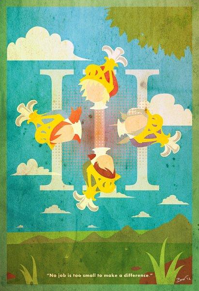Tags: Anime, Brett Wilson, Final Fantasy III, Ingus, Arc (FF3), Refia, Onion Knight, Luneth, Fanart