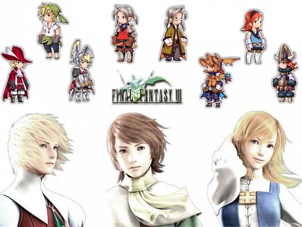 Tags: Anime, Final Fantasy III, Onion Knight, Luneth, Ingus, Arc (FF3), Refia