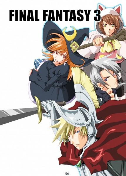 Tags: Anime, Kai / カイ, Final Fantasy III, Magus, Ingus, Luneth, Arc (FF3), Refia, Onion Knight, Devout, Pixiv, Fanart