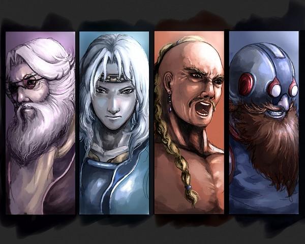 Tags: Anime, Pixiv Id 451442, Final Fantasy IV, Yang Fang Leiden, Tellah, Cid Pollendina, Cecil Harvey, Pixiv
