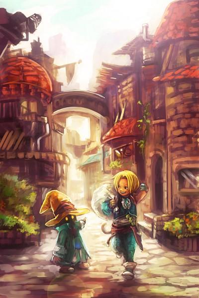 Tags: Anime, Tsuyomaru, Final Fantasy IX, Black Mage, Vivi Ornitier, Zidane Tribal, Sack, Fanart, Mobile Wallpaper, Fanart From Pixiv, Pixiv