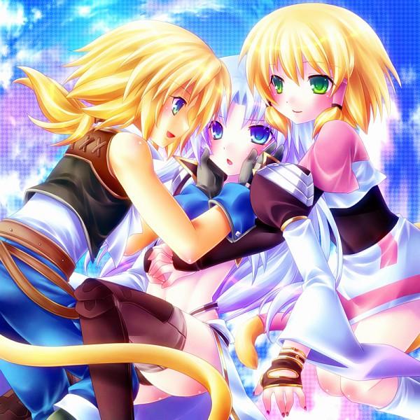 Tags: Anime, Minatosaiga, Final Fantasy IX, Zidane Tribal, Kuja, Mikoto (Final Fantasy IX), PNG Conversion, Fanart, Pixiv