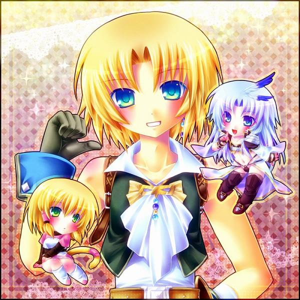 Tags: Anime, Minatosaiga, Final Fantasy IX, Kuja, Mikoto (Final Fantasy IX), Zidane Tribal, Tail Ornament, Pixiv, Fanart, PNG Conversion