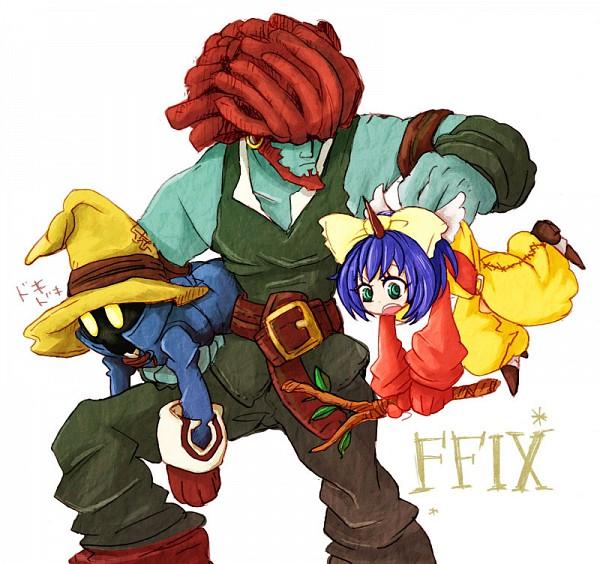 Tags: Anime, Final Fantasy IX, Black Mage, Vivi Ornitier, Eiko Carol, Salamander Coral, Summoner