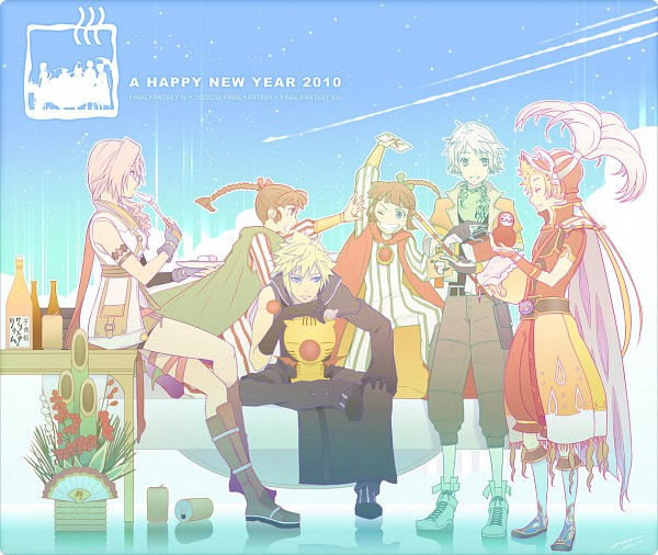 Tags: Anime, SQUARE ENIX, Final Fantasy III, Final Fantasy IV, Final Fantasy XIII, Dissidia, Final Fantasy VII, Porom, Hope Estheim, Moogle, Lightning Farron, Onion Knight, Cloud Strife