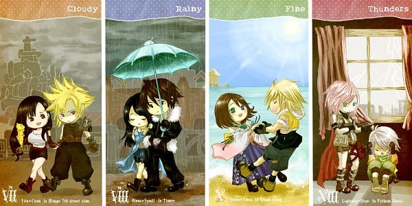 Tags: Anime, SQUARE ENIX, Final Fantasy X, Final Fantasy VII, Final Fantasy XIII, Final Fantasy VIII, Squall Leonhart, Tifa Lockhart, Cloud Strife, Yuna, Rinoa Heartilly, Lightning Farron, Tidus