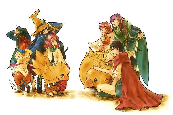 Tags: Anime, Pixiv Id 285287, Final Fantasy V, Boko, Sarisa Scherwil Tycoon, Butz Klauser, Lenna Charlotte Tycoon, Krile Mayer Baldesion, Chocobo, Pixiv