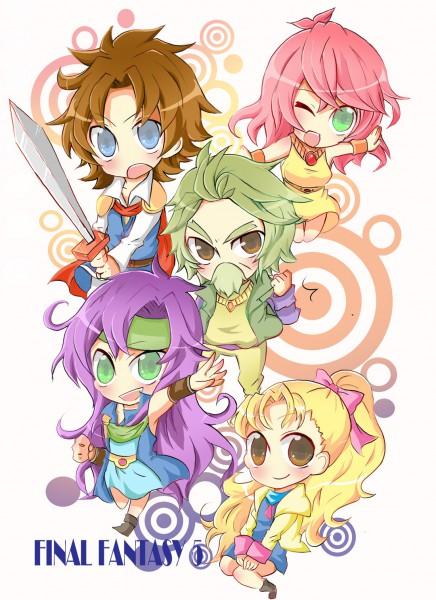 Tags: Anime, Final Fantasy V, Galuf Halm Baldesion, Lenna Charlotte Tycoon, Krile Mayer Baldesion, Sarisa Scherwil Tycoon, Butz Klauser