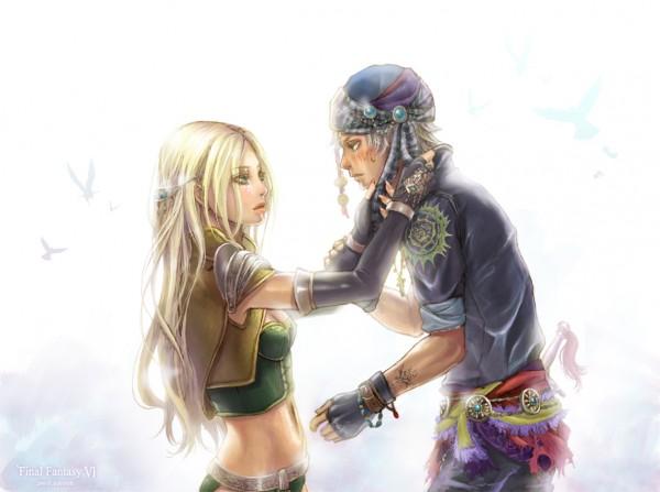 Tags: Anime, Cocoon (yuming4976), Final Fantasy VI, Celes Chere, Locke Cole, Fanart From Pixiv, Fanart, Pixiv