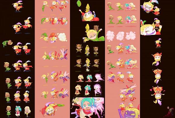 Tags: Anime, KONAMI, beatmania, Final Fantasy VI, Beatmania IIDX, Edgar Roni Figaro, Cefca Palazzo, Celes Chere, Gau (Final Fantasy VI), Tina Branford, Relm Arrowny, Smooooch・∀・