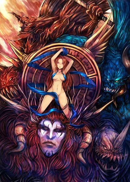Tags: Anime, Kara (Color), Final Fantasy VI, Warring Triad, Mobile Wallpaper