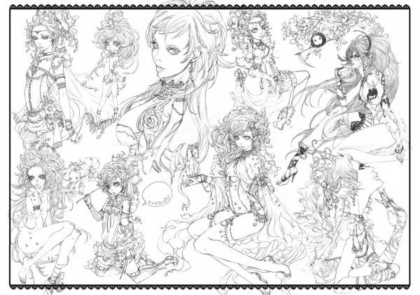 Tags: Anime, Sakizou, SQUARE ENIX, Final Fantasy VI, Celes Chere, Tina Branford, Relm Arrowny, Pixiv, Sketch