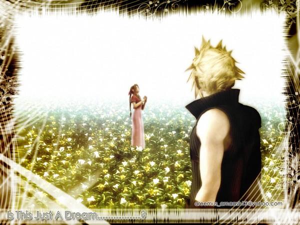 Tags: Anime, Final Fantasy VII: Advent Children, Final Fantasy VII, Aerith Gainsborough, Cloud Strife, Areemus, Wallpaper