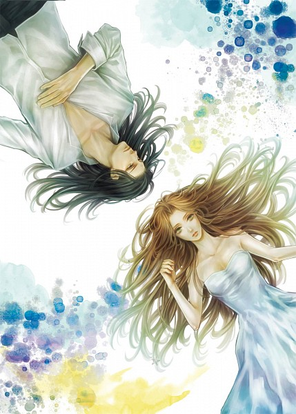 Tags: Anime, Tetra Takamine, Final Fantasy VII, Aerith Gainsborough, Tseng, Pixiv, Fanart, Mobile Wallpaper, Turks