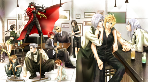 Tags: Anime, Akiyomin, Final Fantasy VII, Reno, Cloud Strife, Tifa Lockhart, Loz, Kadaj, Rude, Vincent Valentine, Denzel, Yazoo, Yuffie Kisaragi