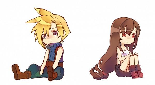 Tags: Anime, Pixiv Id 1005987, Final Fantasy VII, Cloud Strife, Tifa Lockhart, Fanart From Pixiv, Fanart, Pixiv, Facebook Cover