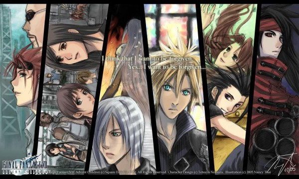 Tags: Anime, SQUARE ENIX, Final Fantasy VII, Rude, Zack Fair, Marlene Wallace, Sephiroth, Red XIII, Vincent Valentine, Barret Wallace, Cloud Strife, Reno, Aerith Gainsborough