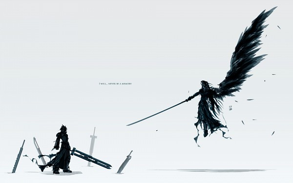 Tags: Anime, Final Fantasy VII, Sephiroth, Cloud Strife, Wallpaper
