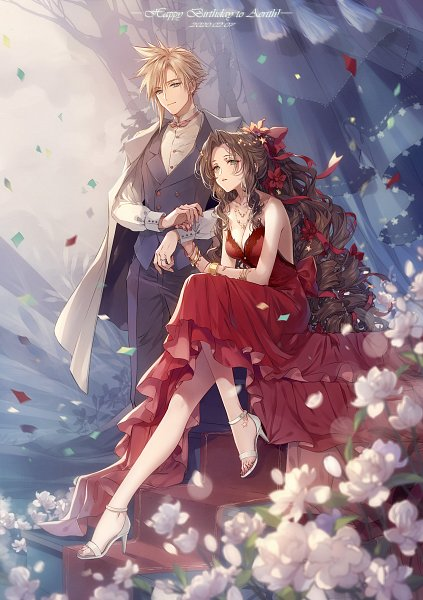 Tags: Anime, Kieta, Final Fantasy VII Remake, Final Fantasy VII, Aerith Gainsborough, Cloud Strife, Fanart, Pixiv, Fanart From Pixiv