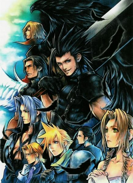 Tags: Anime, Crisis Core: Final Fantasy VII, Final Fantasy VII, Cloud Strife, Tseng, Lazard Deusericus, Zack Fair, Genesis Rhapsodos, Aerith Gainsborough, Angeal Hewley, Sephiroth, Mobile Wallpaper, Turks