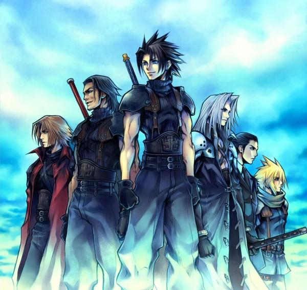 Tags: Anime, Nomura Tetsuya, Crisis Core: Final Fantasy VII, Final Fantasy VII, Tseng, Zack Fair, Genesis Rhapsodos, Sephiroth, Angeal Hewley, Cloud Strife, Official Art, Turks