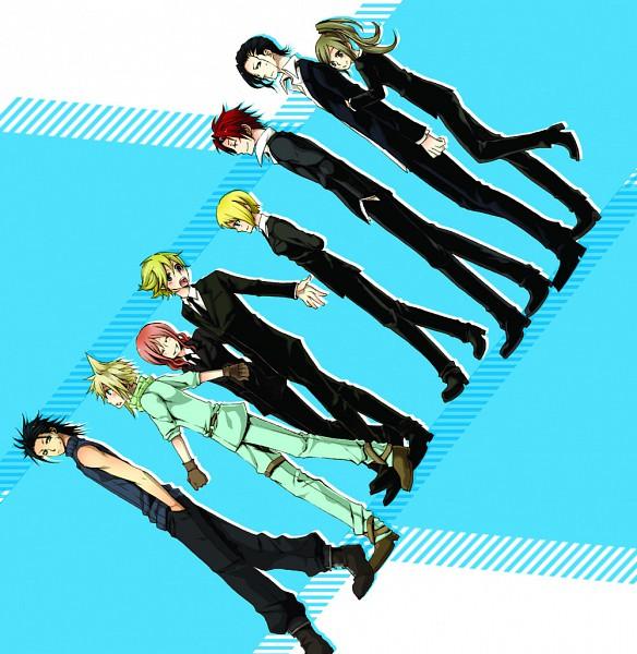 Tags: Anime, Dolly666, Final Fantasy VII, Cissnei, Reno, Zack Fair, Elena, Cloud Strife, Fanart, Pixiv, Turks