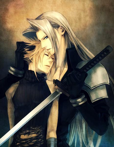Tags: Anime, Yui Nightflight, Final Fantasy VII, Dissidia, Cloud Strife, Sephiroth, Pixiv, Fanart