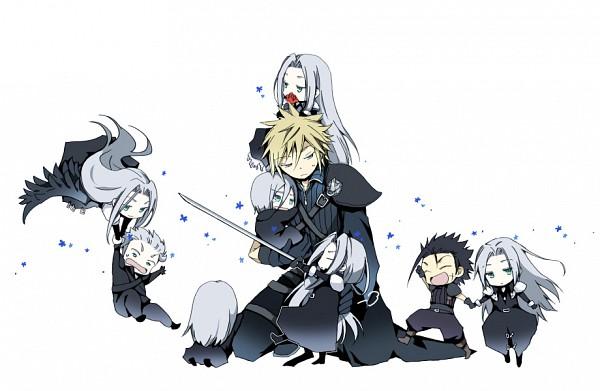 Tags: Anime, Minmoo, Final Fantasy VII, Loz, Cloud Strife, Yazoo, Kadaj, Zack Fair, Sephiroth, One Wing, Fanart, Pixiv