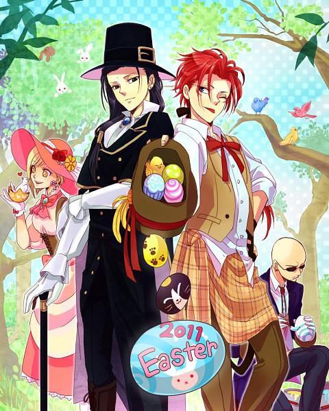 Tags: Anime, Chidori (Pixiv 672641), Final Fantasy VII, Tseng, Elena, Rude, Reno, Easter, Pixiv, Turks