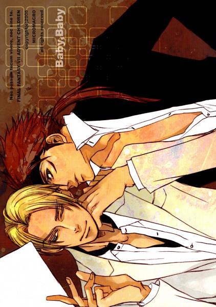 Tags: Anime, Yamada Sakurako, Final Fantasy VII, Rufus Shinra, Reno, Mobile Wallpaper, Doujinshi Cover, Fanart, Turks