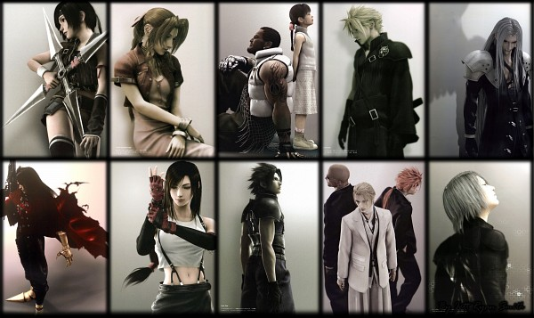 Tags: Anime, Nomura Tetsuya, SQUARE ENIX, Final Fantasy VII, Yuffie Kisaragi, Tifa Lockhart, Kadaj, Sephiroth, Zack Fair, Cloud Strife, Rude, Vincent Valentine, Reno