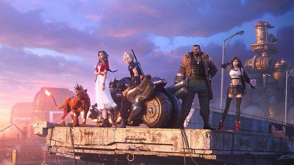 Tags: Anime, SQUARE ENIX, Final Fantasy VII, Final Fantasy VII Remake, Red XIII, Aerith Gainsborough, Barret Wallace, Cloud Strife, Tifa Lockhart, 3D, Key Visual, Official Art