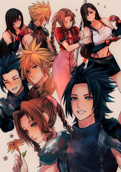 Tags: Anime, Karudoll, Final Fantasy VII, Final Fantasy VII Remake, Crisis Core: Final Fantasy VII, Zack Fair, Aerith Gainsborough, Cloud Strife, Tifa Lockhart, Pixiv, Fanart, Twitter, Fanart From Pixiv