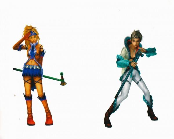 Tags: Anime, Nomura Tetsuya, Final Fantasy X, Paine, Rikku, 3D