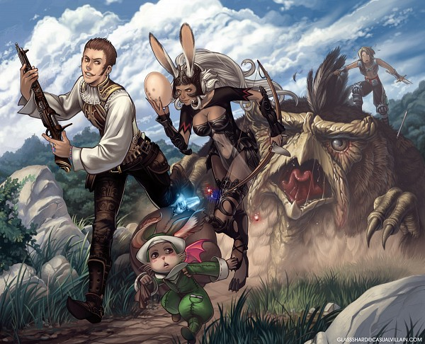 Tags: Anime, Ashleycope, Final Fantasy XII, Moogle, Vaan, Viera, Balthier, Fran (FFXII), Nono (FFXII), Treasure, Running Away, Confused, deviantART