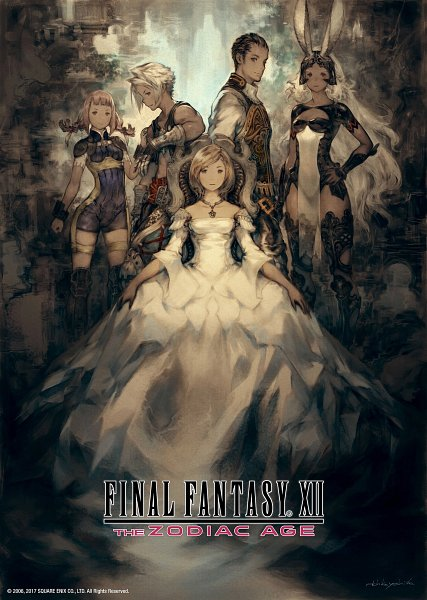 Tags: Anime, SQUARE ENIX, Final Fantasy XII, Vaan, Balthier, Fran (FFXII), Viera, Penelo, Ashelia B'nargin Dalmasca, Official Art