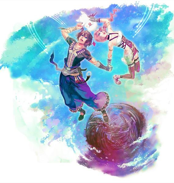 Tags: Anime, Wataame, Final Fantasy XIII, Moogle, Noel Kreiss, Serah Farron, Pixiv, Fanart