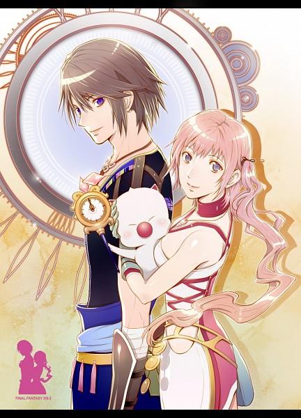 Tags: Anime, Amatari Sukuzakki, Final Fantasy XIII, Moogle, Noel Kreiss, Serah Farron, Mobile Wallpaper, Pixiv, Fanart From Pixiv, Fanart
