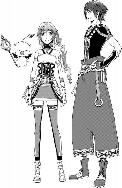 Tags: Anime, Amatari Sukuzakki, Final Fantasy XIII, Serah Farron, Moogle, Noel Kreiss, Mobile Wallpaper, Pixiv, Fanart From Pixiv, Fanart