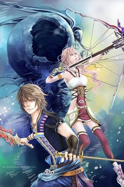Tags: Anime, Cindiq, Final Fantasy XIII, Noel Kreiss, Lightning Farron, Serah Farron, deviantART, Fanart From DeviantART, Fanart